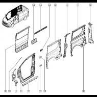 Bagskærm/panel venstre side. Renault Traffic III