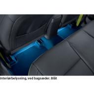 Interiør belysning blå bagsæder