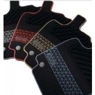 Tekstilmåtte med mønster `gul`